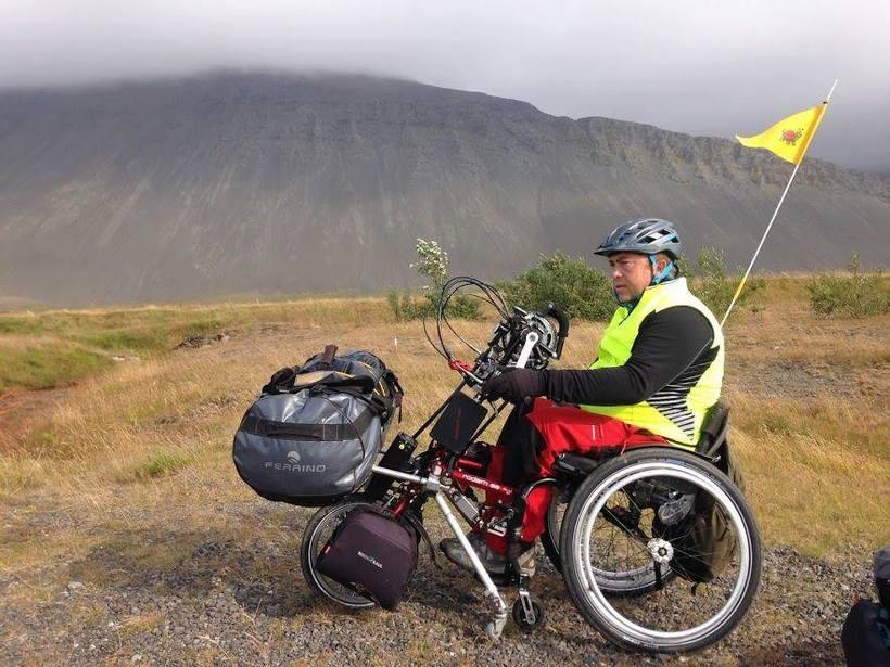 Carlos á ferð sinni um Ísland.
