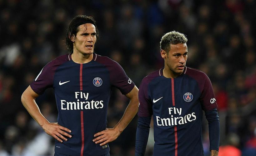 Edinson Cavani og Neymar.