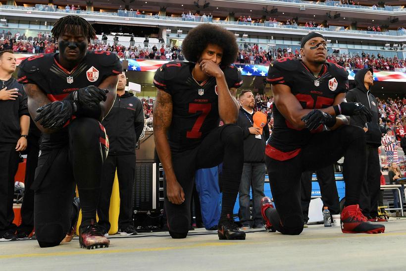 Það var Colin Kaepernick, liðstjórnandi San Francisco 49ers, sem kom ...