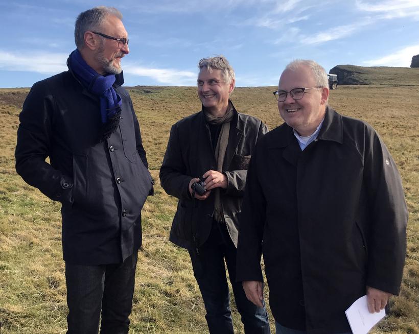 Eiríkur Björn Björgvinsson, bæjarstjóri á Akureyri, Steve Christer arkitekt og ...