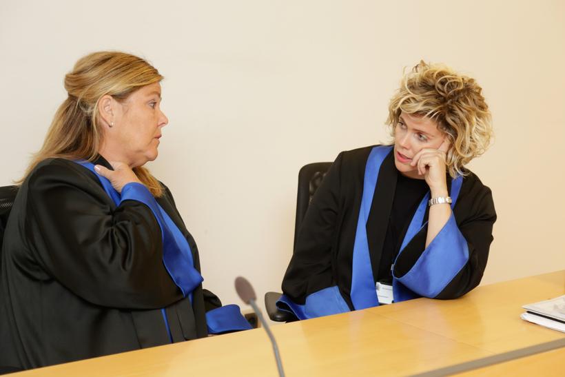 Kolbrún Benediktsdóttir deputy district attorney on the right, today at ...