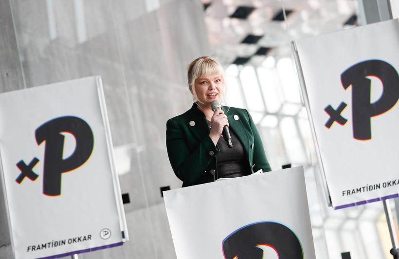 Þórhildur Sunna Ævarsdóttir MP and spokeswoman for the Pirate Party ...