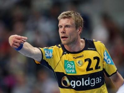 Guðjón Valur Sigurðsson skoraði þrjú mörk fyrir Löwen.