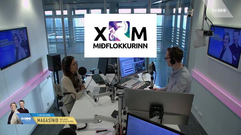 Merki Miðflokksins var rætt í Magasíninu hjá Hvata og Rikku ...