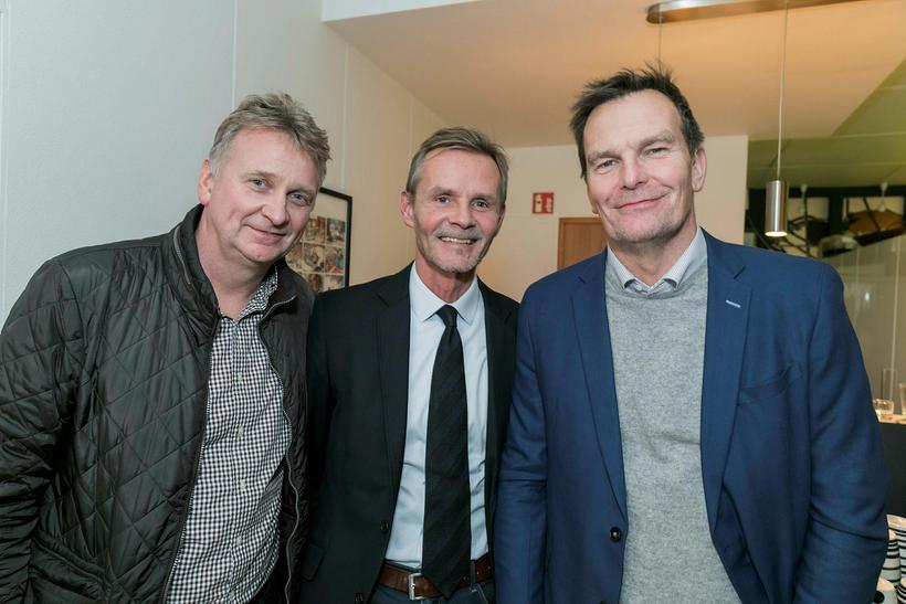 Ingólfur Steingrímsson, Stefán Steinsen og Logi Bergmann.