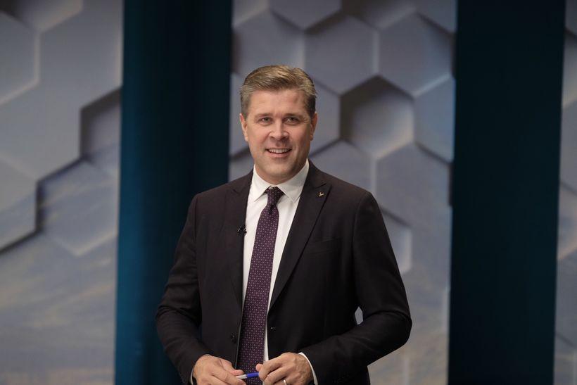 Bjarni Benediktsson, fundur formanna á Rúv.