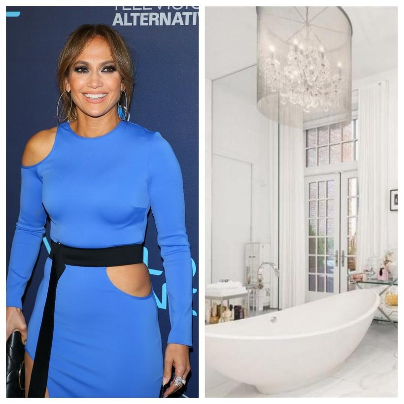 Jennifer Lopez hefur örugglega haft það huggulegt í þessu baði.