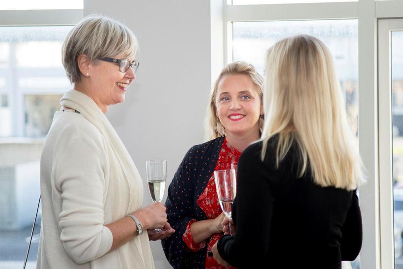 Sigríður Ólafsdóttir, Elsa Steinunn Halldórsdóttir og Louise Sávström.