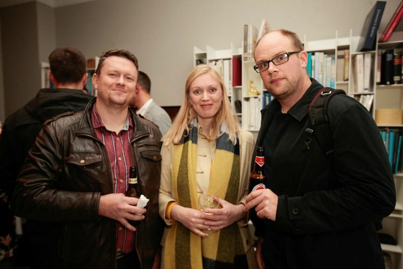Kjartan Sverrisson, Arnar Tumi Þorsteinsson og Diljá Valsdóttir.