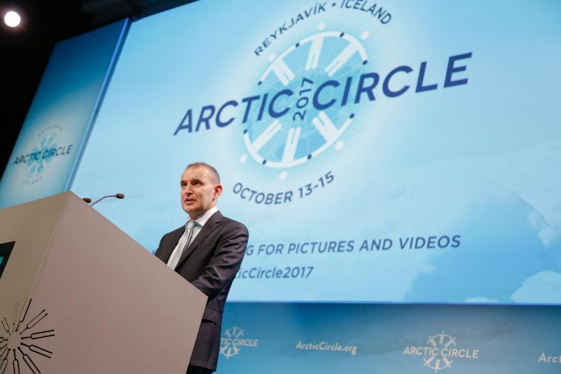 Guðni Th. Jóhannesson, forseti Íslands, á Arctic Circle.