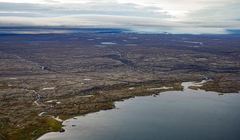 Rennsli þriggja áa á Ófeigsfjarðarheiði yrði virkjað. (F.v.): Rjúkandi, Hvalá ...