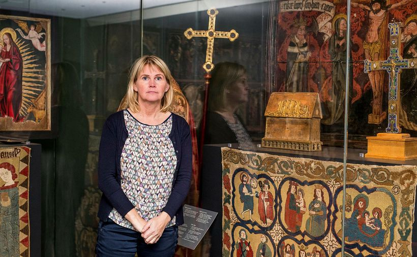 Archaeologist Steinunn Kristjánsdóttir has for years researched the cloisters of ...