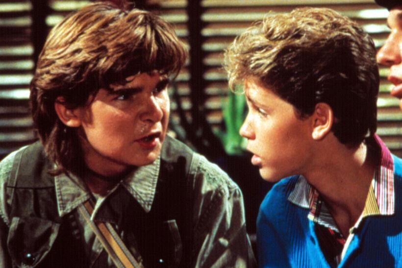 Corey Feldman (til vinstri) og Corey Haim voru þekktar barnastjörnur ...