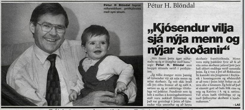 Þessi frétt um Pétur Blöndal birtist í Helgarpóstinum 31. október ...