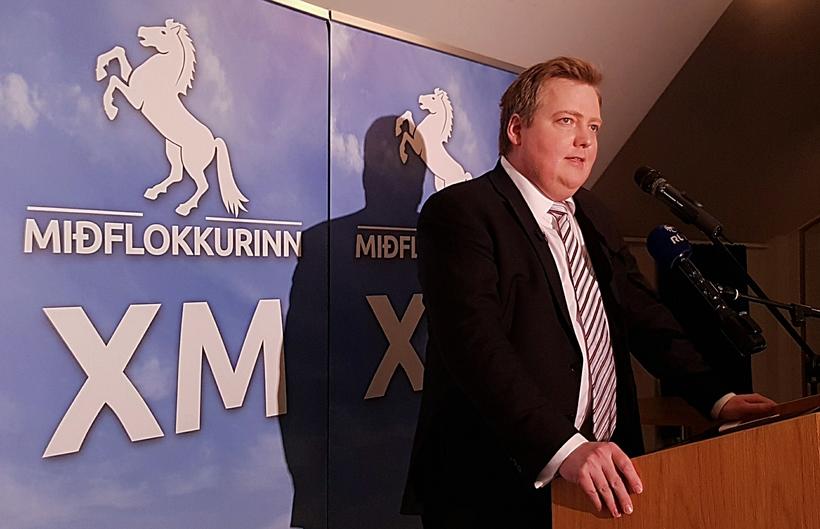 Sigmundur Davíð Guðlaugsson, formaður Miðflokksins, kynnir stefnumál flokksins í Rúgbrauðsgerðinni ...