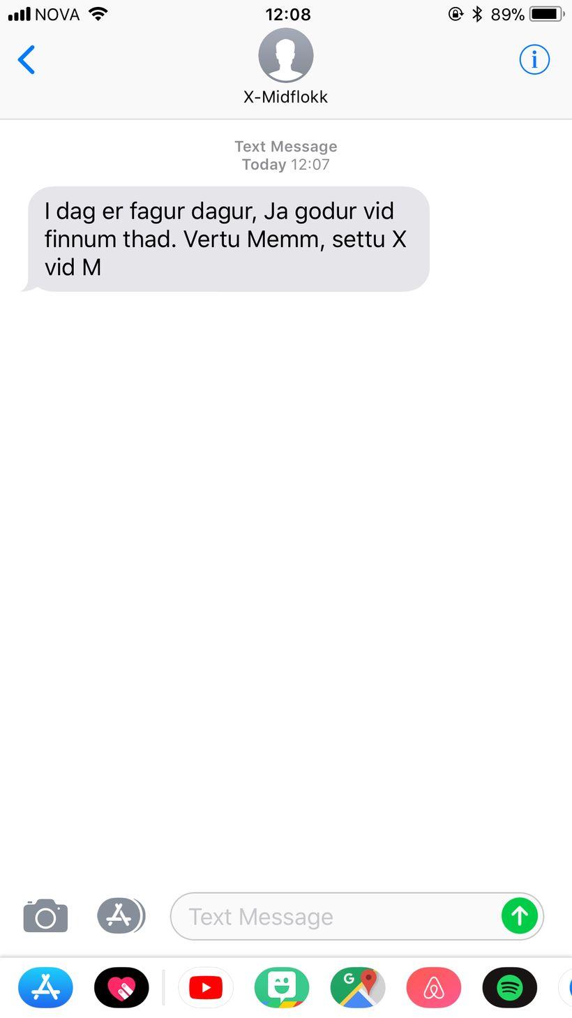 Miðflokkurinjn hvatti fólk til að vera memm og setja X …