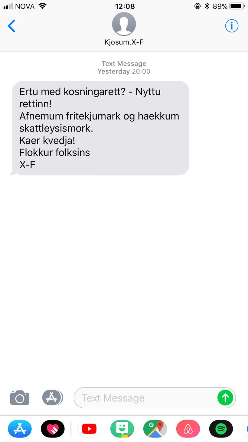 Flokkur fólksins hvatti kjósendur til að nýta kosningaréttinn.