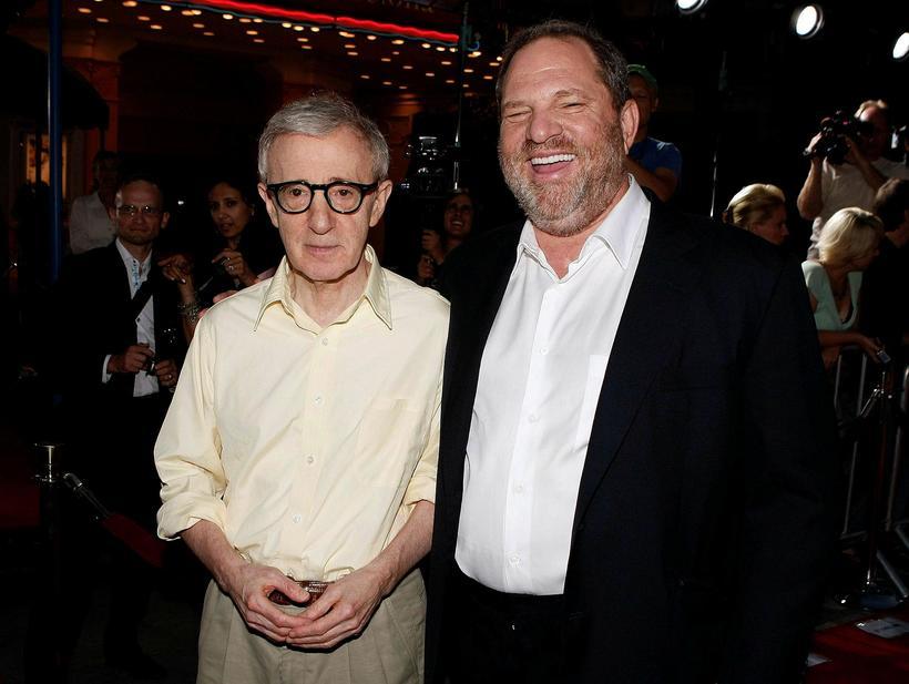 Woody Allen og Harvey Weinstein.