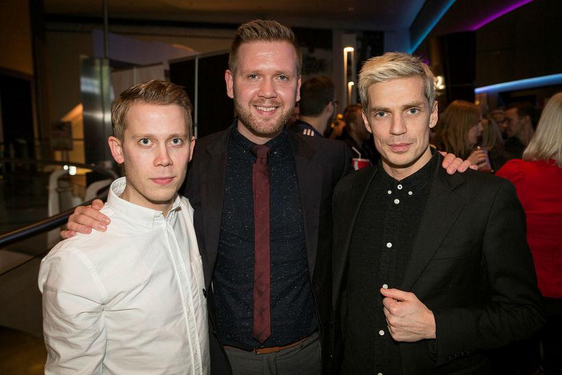 Sigurður Þór, Erlingur and Björn at the premiere in Reykjavík ...