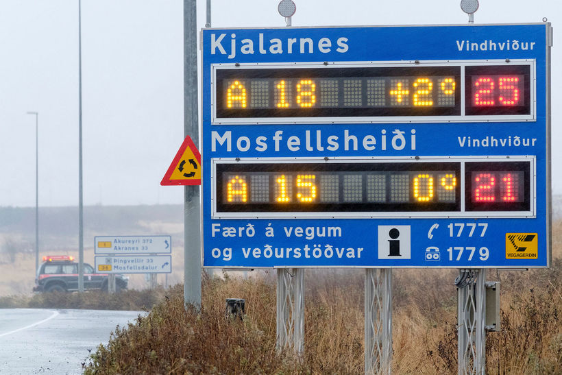 Several roads in South and West Iceland were closed due ...