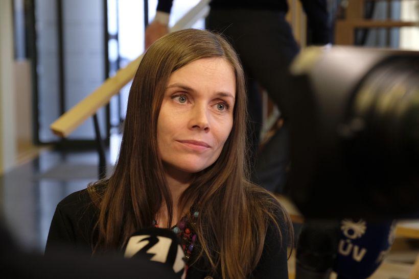 Katrín hefur átt í samtölum við flesta formenn flokkanna síðustu ...
