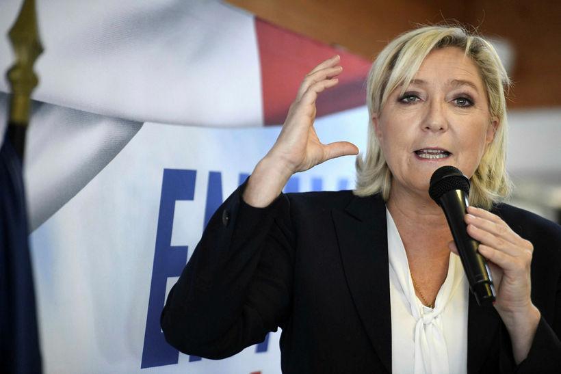 Marine Le Pen hefur verið svipt þinghelgi fyrir að birta ...