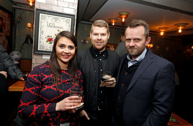 Tinna Gunnlaugsdóttir, Guðjón Guðmundsson og Jón Viðar Stefánsson.