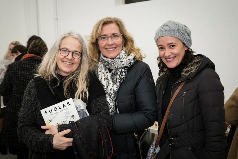 Iðunn Thors, Ágústa Unnur Gunnarsdóttir og Claudia Maro.