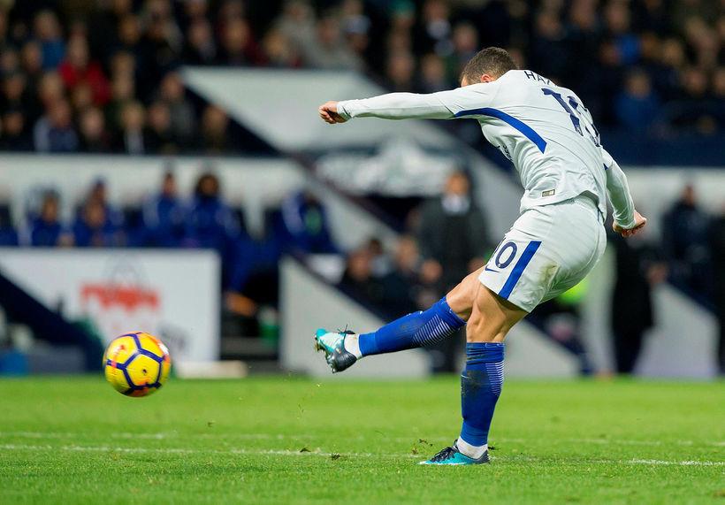 Eden Hazard var öflugur hjá Chelsea í dag.