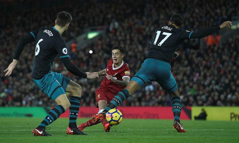 Philippe Coutinho skoraði eitt mark fyrir Liverpool í dag og ...