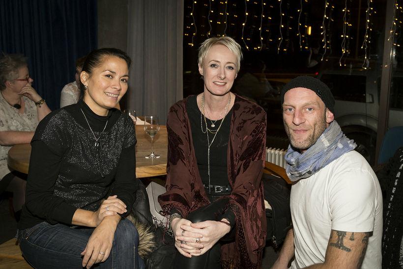 Nanna Ósk, Lára Árnadóttir og Reynir Pálsson.