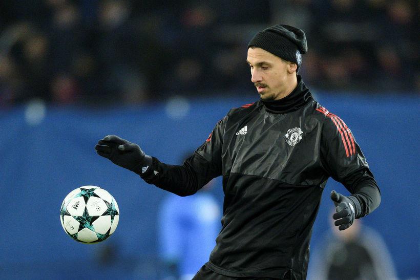 Zlatan Ibrahimovic hitar upp í Basel í kvöld.