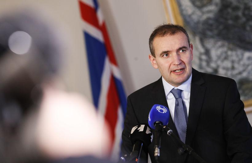 Guðni Th. Jóhannesson, forseti Íslands, á Bessastöðum í dag.