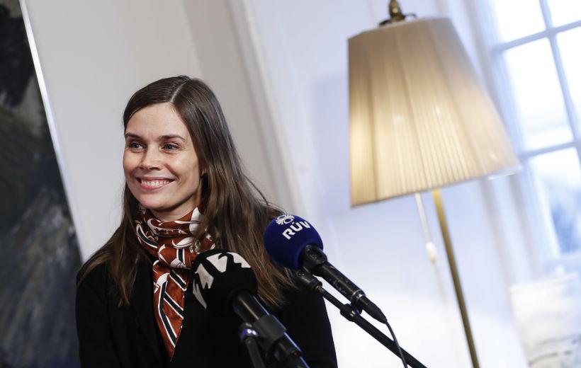 Katrín Jakobsdóttir á Bessastöðum.