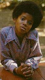 Michael Jackson barn að aldri.