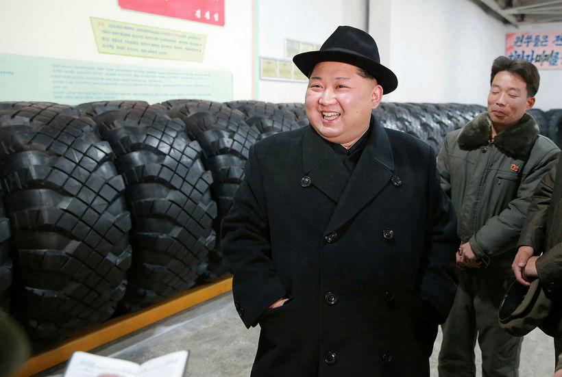 Kim Jong-Un, leiðtogi Norður-Kóreu, vill gera þjóð sína að kjarnorkuveldi.