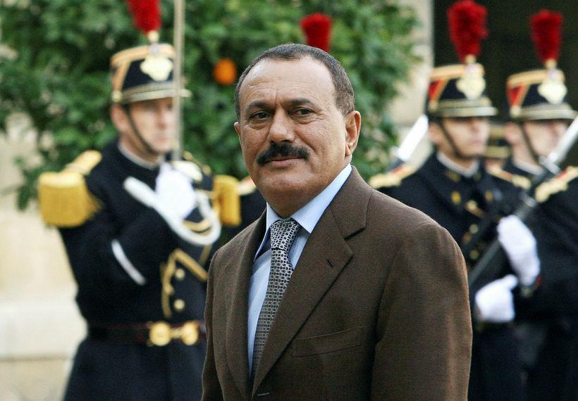 Ali Abdullah Saleh var forseti Jemens í 33 ár en …