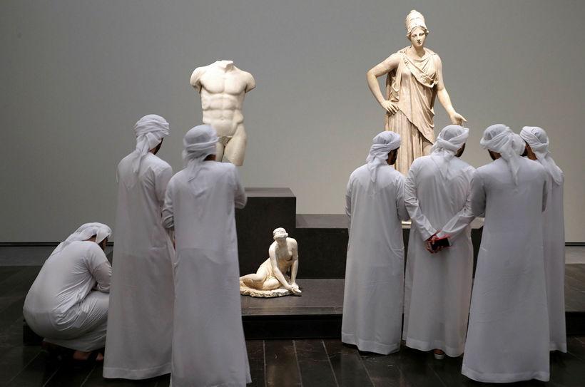 Frá opnun Louvre Abu Dhabi í nóvember.