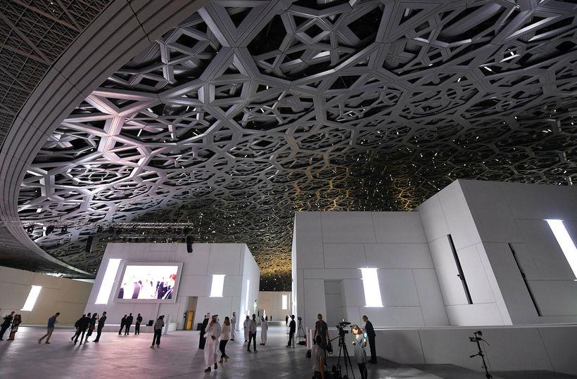 Louvre Abu Dhabi safnið.