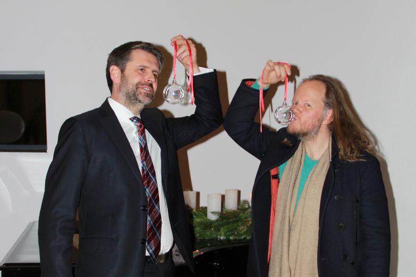 Martin Eyjólfsson, sendiherra Íslands í Berlín, og Egill Sæbjörnsson.