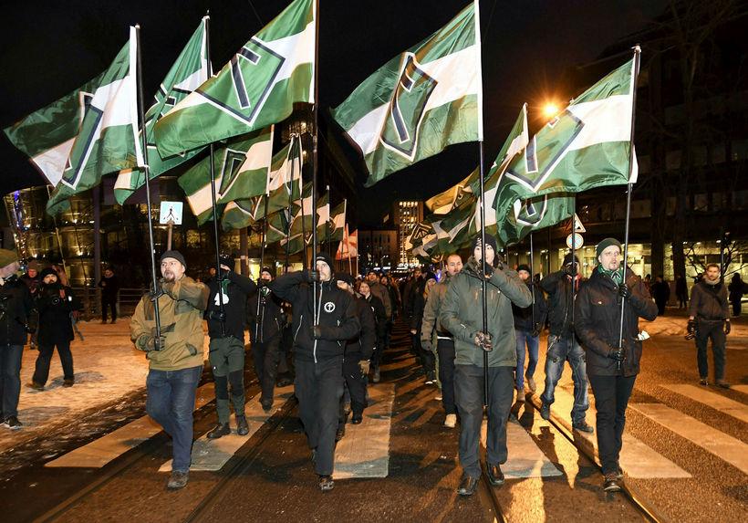 Öfgamenn í norræni nasistahreyfingu, Nordic Resistance Movement.
