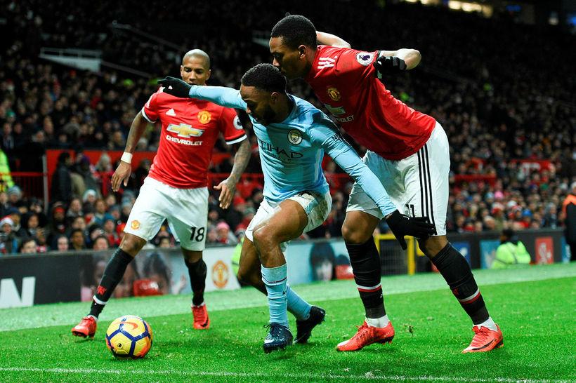 Manchester United og Manchester City eigast við í kvöld.