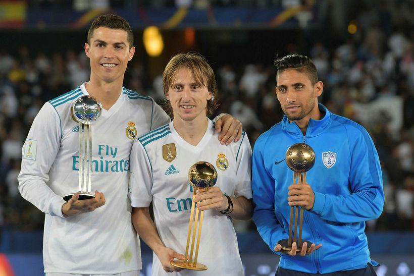 Ronaldo, Luka Modric og Jonathan Urretaviscaya.