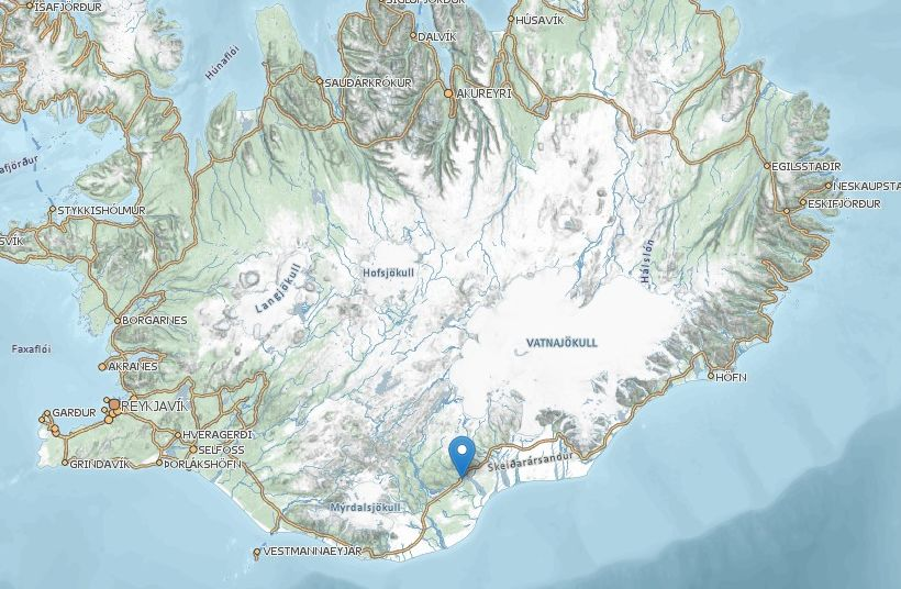 One dead and many injured in south iceland coach accident iceland map gumiabroncs Image collections