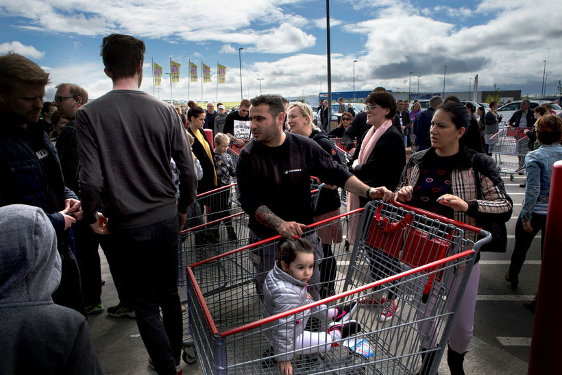 Icelanders went crazy when the first Costco store opened.