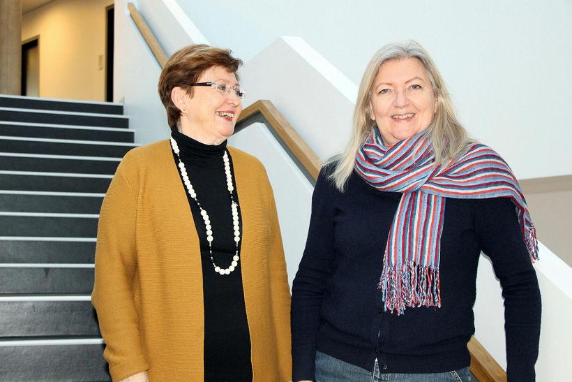 Hafdís Ingvarsdóttir (t.v.) og Birna Arnbjörnsdóttir, ritstjórar Language Development across ...