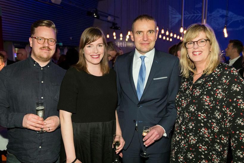 Andri Egilsson, Rakel Adolfsdóttir, Guðni Th. Jóhannesson og Berglind Ólafsdóttir.