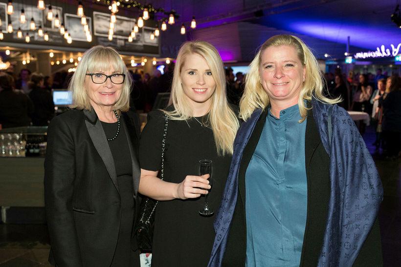 Mæðgurnar Bessý Jóhannsdóttir, Jóhanna Margrét Gísladóttir og Erna Gísladóttir.