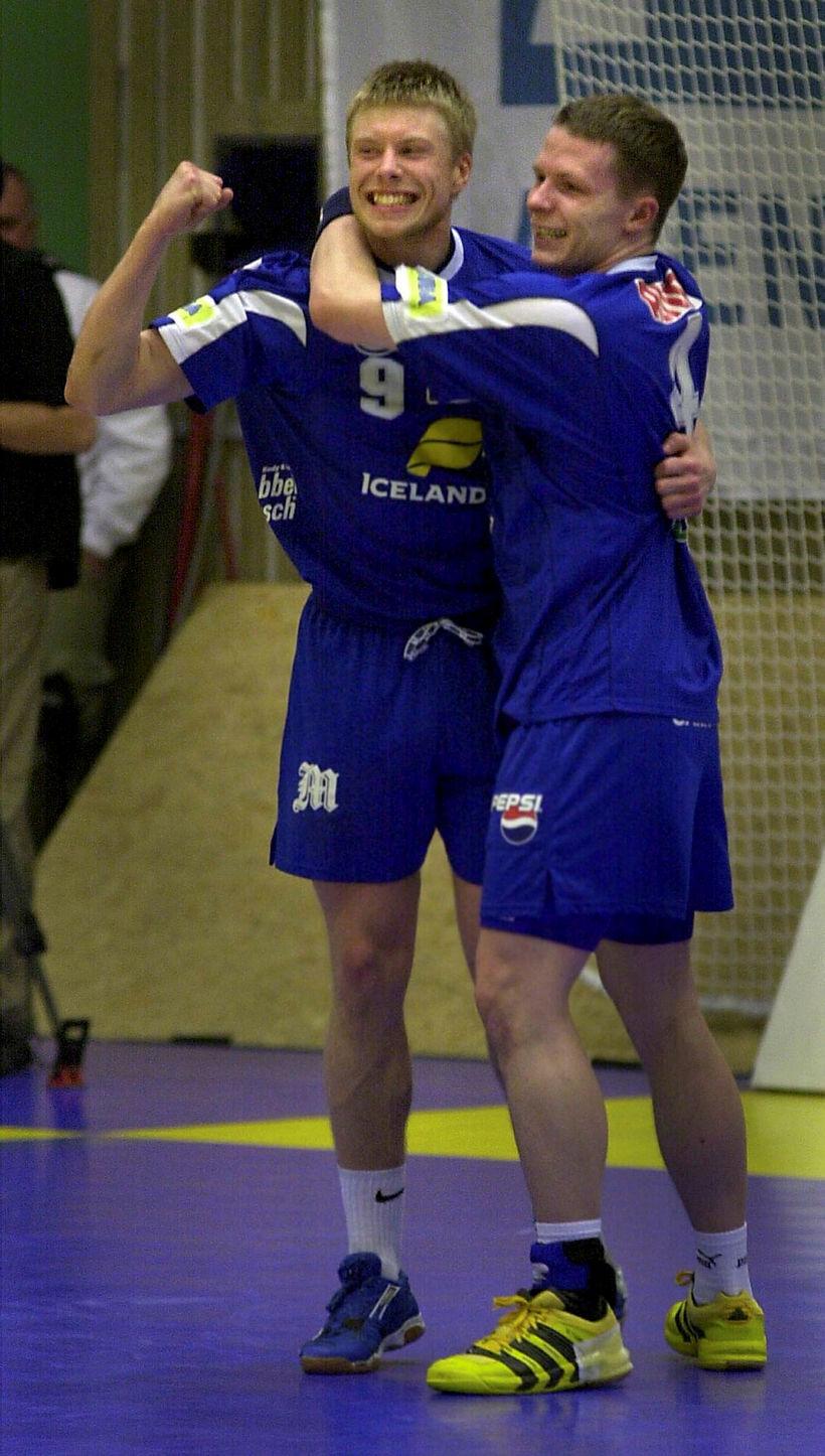 Guðjón Valur Sigurðsson og Einar Örn Jónsson á EM í ...
