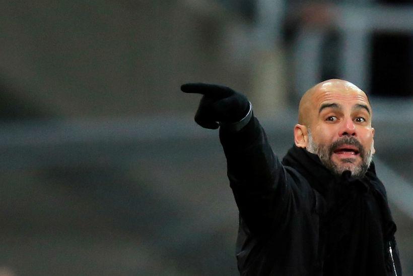 Pep Guardiola knattspyrnustjóri Manchester City.